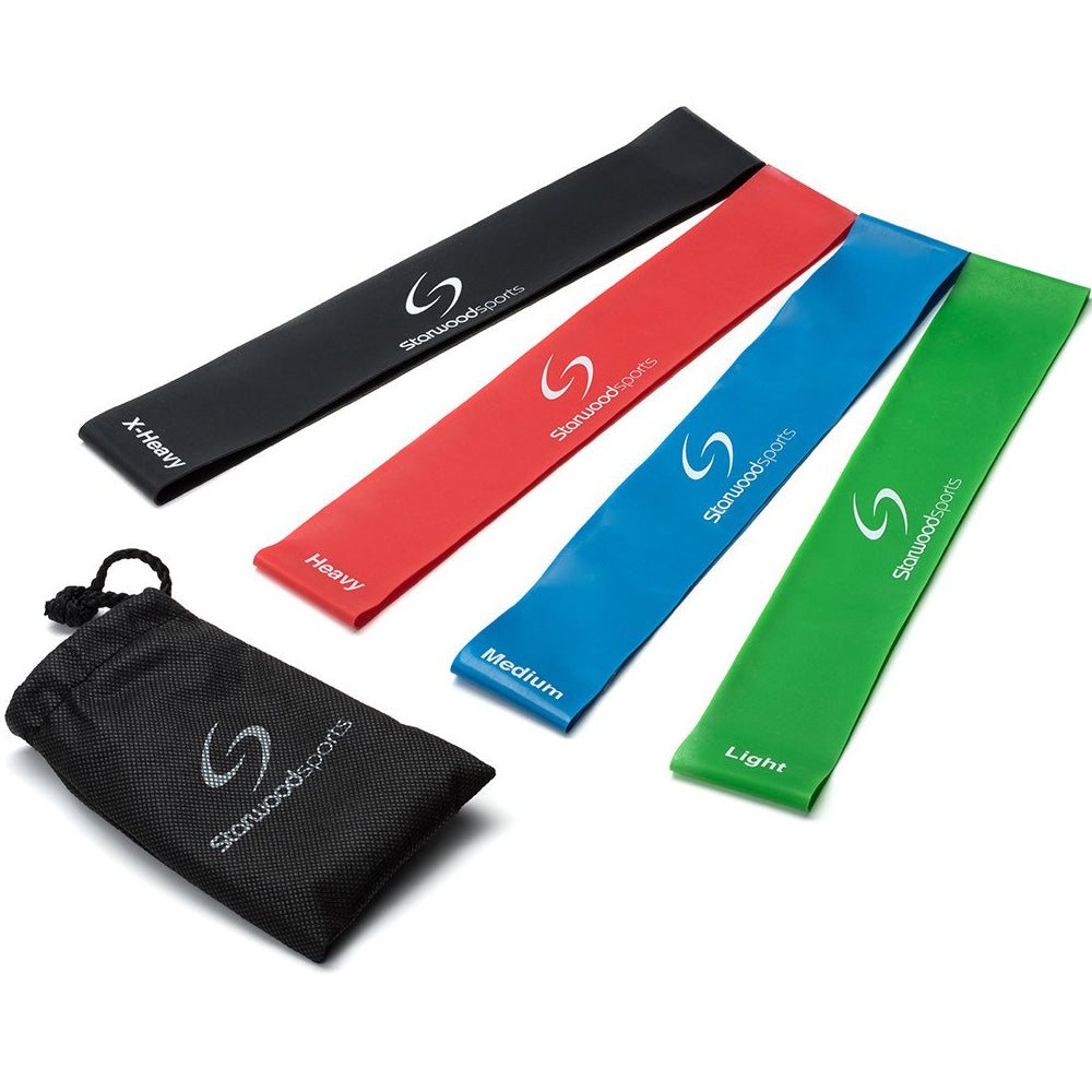 Sports Resistance Loop Bands - Fitness Yoga Physio - Premium Set of 4