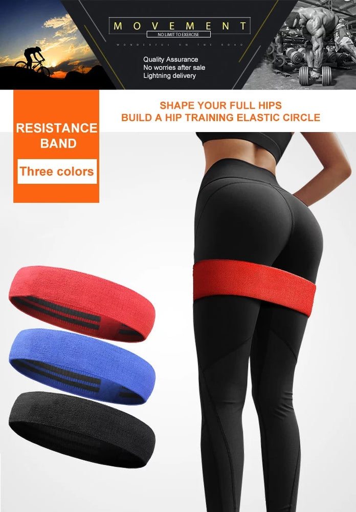 High Quality Resistance Loop Bands Stretch Fabric Sport Fitness Gym - 3 Sizes