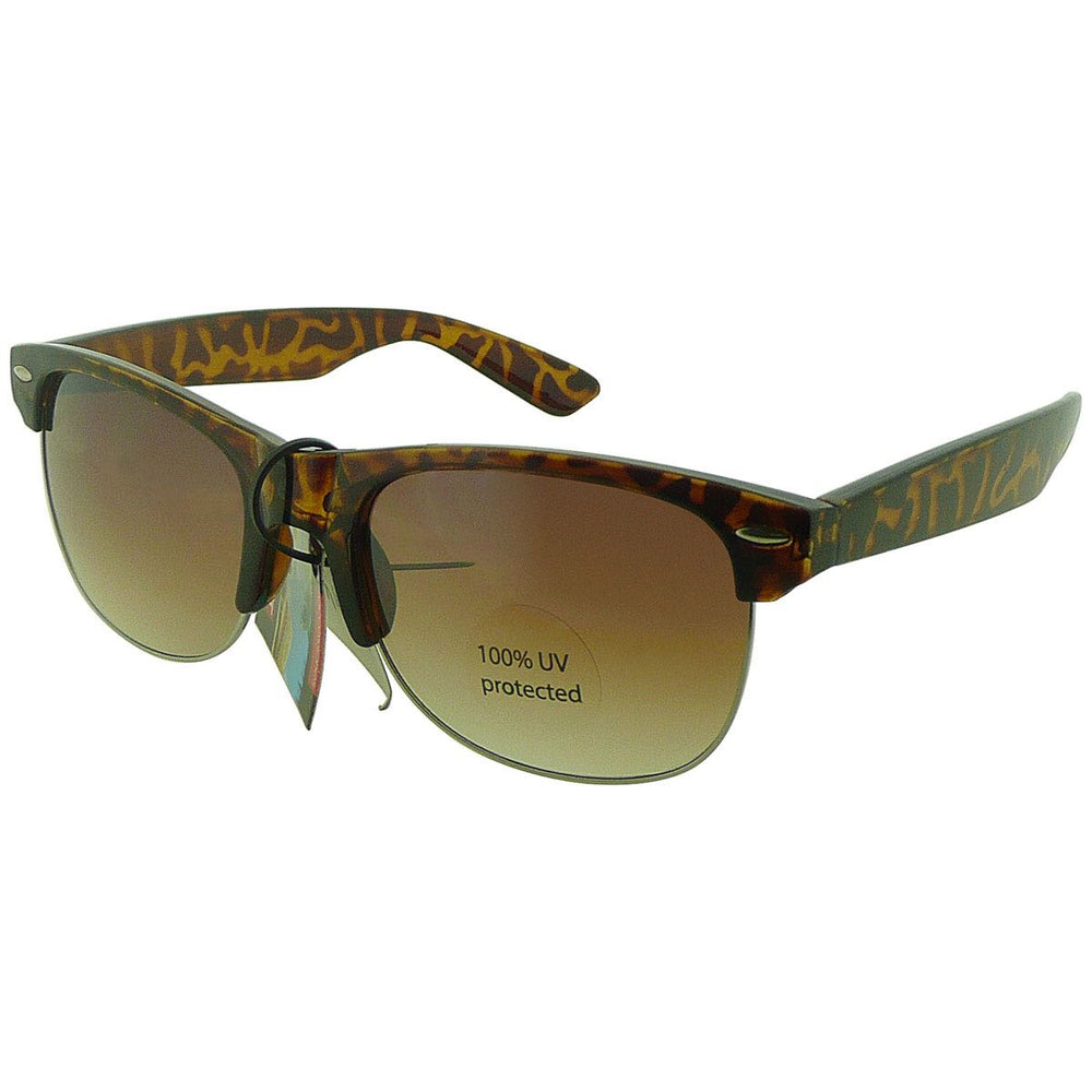 Clubmaster Style Sunglasses - Tortoise