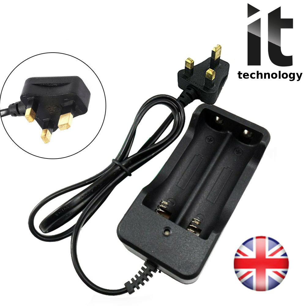 Portable 4.2V Rechargeable Dual Smart Li-ion Battery Charger For 18650 Batteries
