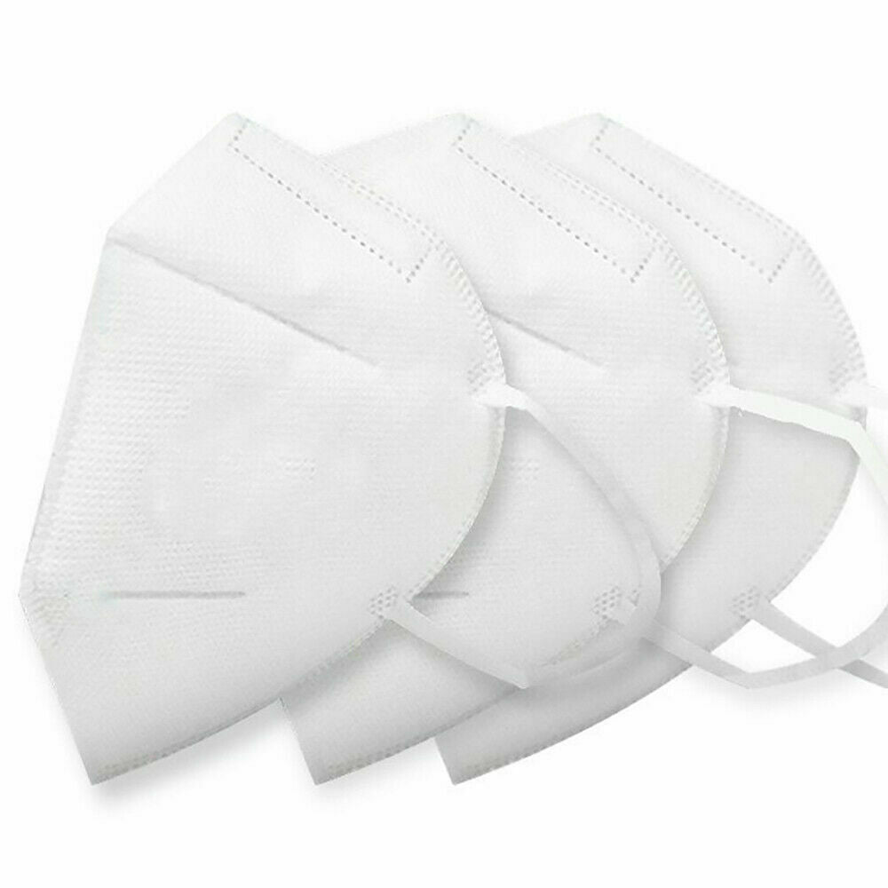 3x KN95 Disposable Face Masks - Breathable Face Protection Masks - Anti Bacteria