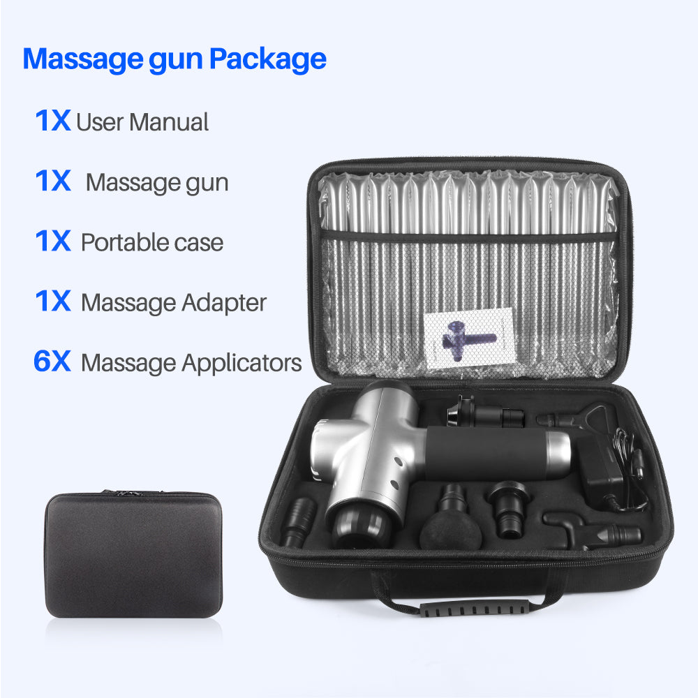 Massage Gun - Deep Tissue - Muscle Vibration Therapy - 6 Heads LCD