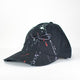 Paint Splash Triple Black Sabr/Patience Distressed Arabic Cap - jubbas.com