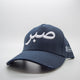 White on Navy Sabr [Patience] Distressed Arabic Cap - Cave London