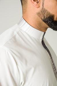 Faded Collar Mens Thobe - jubbas.com
