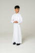 White Kids Four Stud Jubba
