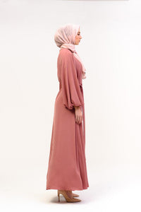 English Rose Bubble Dress Abaya