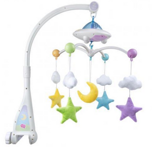 Moon & Stars Cot Mobile with Light Projection - jubbas.com
