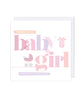 Baby Girl New Born Card - jubbas.com