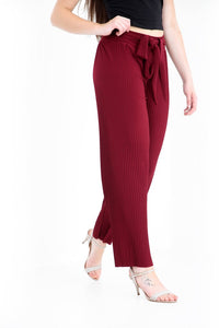 Belt Up Pleated Palazzo Trousers - jubbas.com