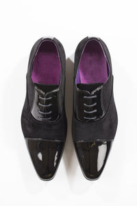 Black Patent/Suede Shoes - jubbas.com