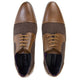 Tan Leather/Fabric Shoes - jubbas.com