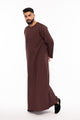 Burgundy Piping Jubba - jubbas.com