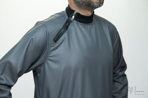 Side Zip Jubba Dark Grey - jubbas.com