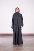 BLACK DOUBLE LAYERED ABAYA
