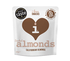I LOVE SNACKS - SMOKED ALMONDS - jubbas.com