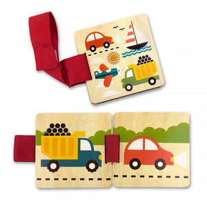 Petit Collage Things That Go Wooden Stroller Book - jubbas.com