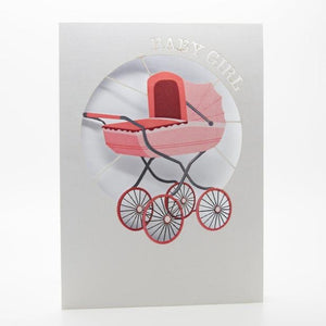 Baby Girl Greeting Card - jubbas.com