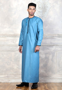 Light Blue Omani Jubbah - jubbascom