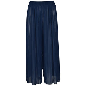 Pleated Culottes Black - jubbas.com
