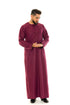 Plum Pleat Omani Jubba