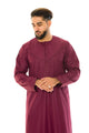 Plum Pleat Omani Jubba - jubbas.com