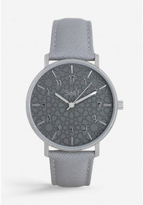 ITHNAAN - Ash - Grey Leather