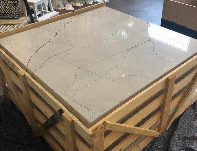 Delivery of a marble table