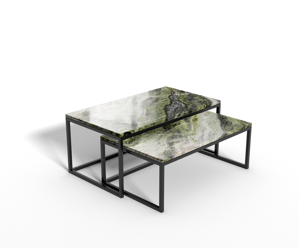 Irish Green marmer - salontafel langwerpig - set
