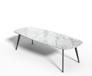 Basic Label - Eettafel - Bianco Carrara marmer