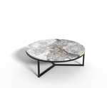 Invisible Greygold marmer - salontafel rond