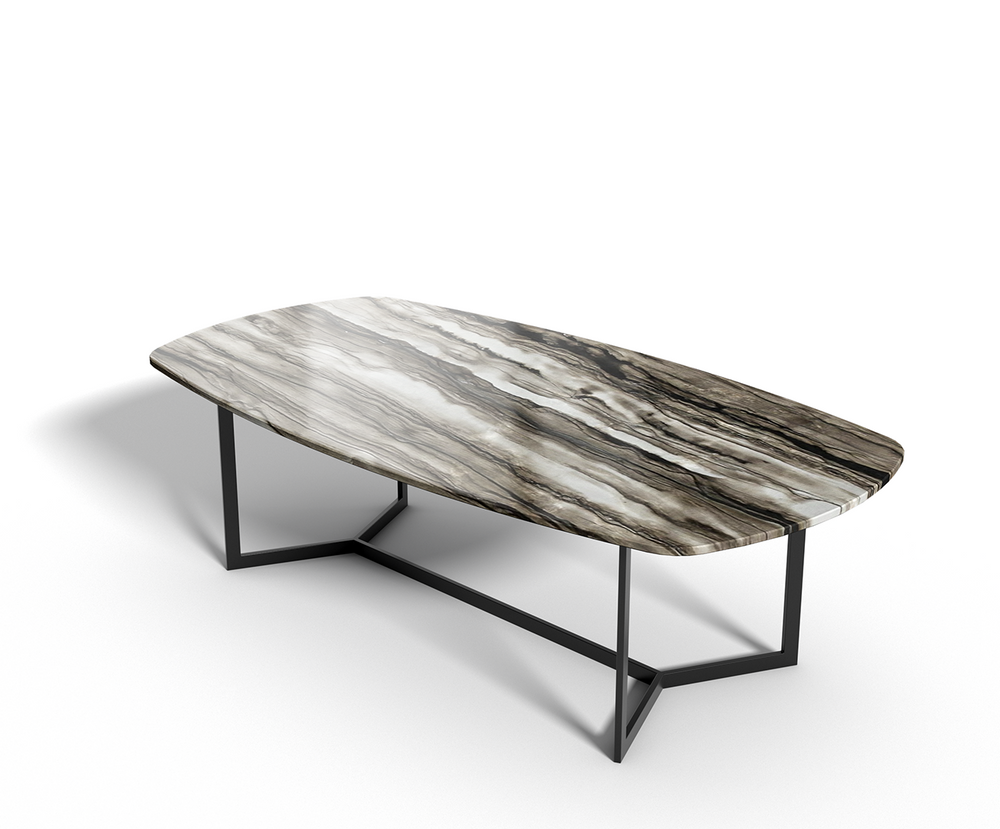 Sequoia Brown marmer - eettafel ovaal