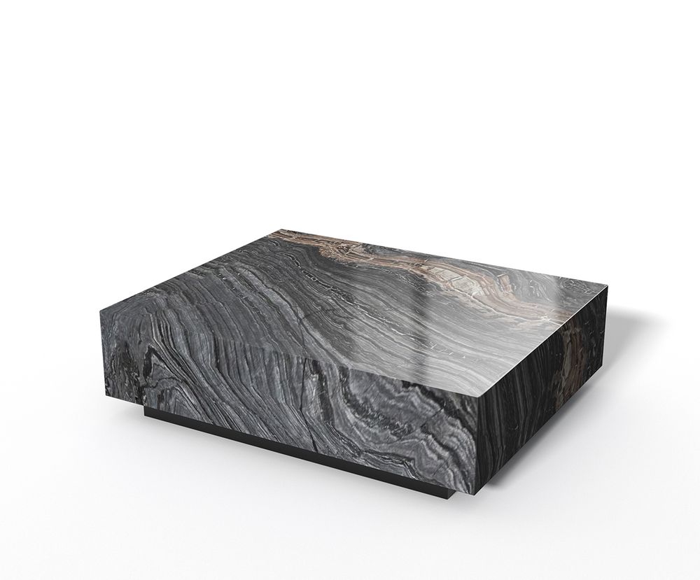 Silver Brown Wave marmer - Salontafel blok