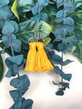 Short Mini Cotton Tassel Earrings