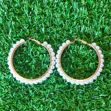 Hoop Earrings with Beading