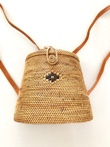 Rattan Brown Backpack