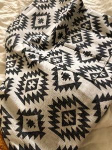 Black & Grey Abstract Towel