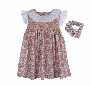 Smocked Liberty Dress + Headband Set