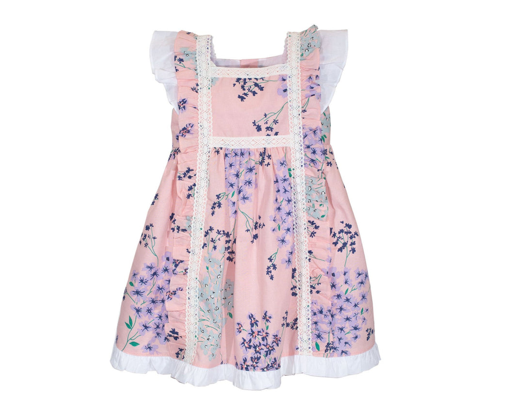 Toddler Girls Fancy Lace Flower Dress Cotton Casual Skater Party Dress