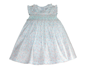 Mint Floral Smocked Sundress