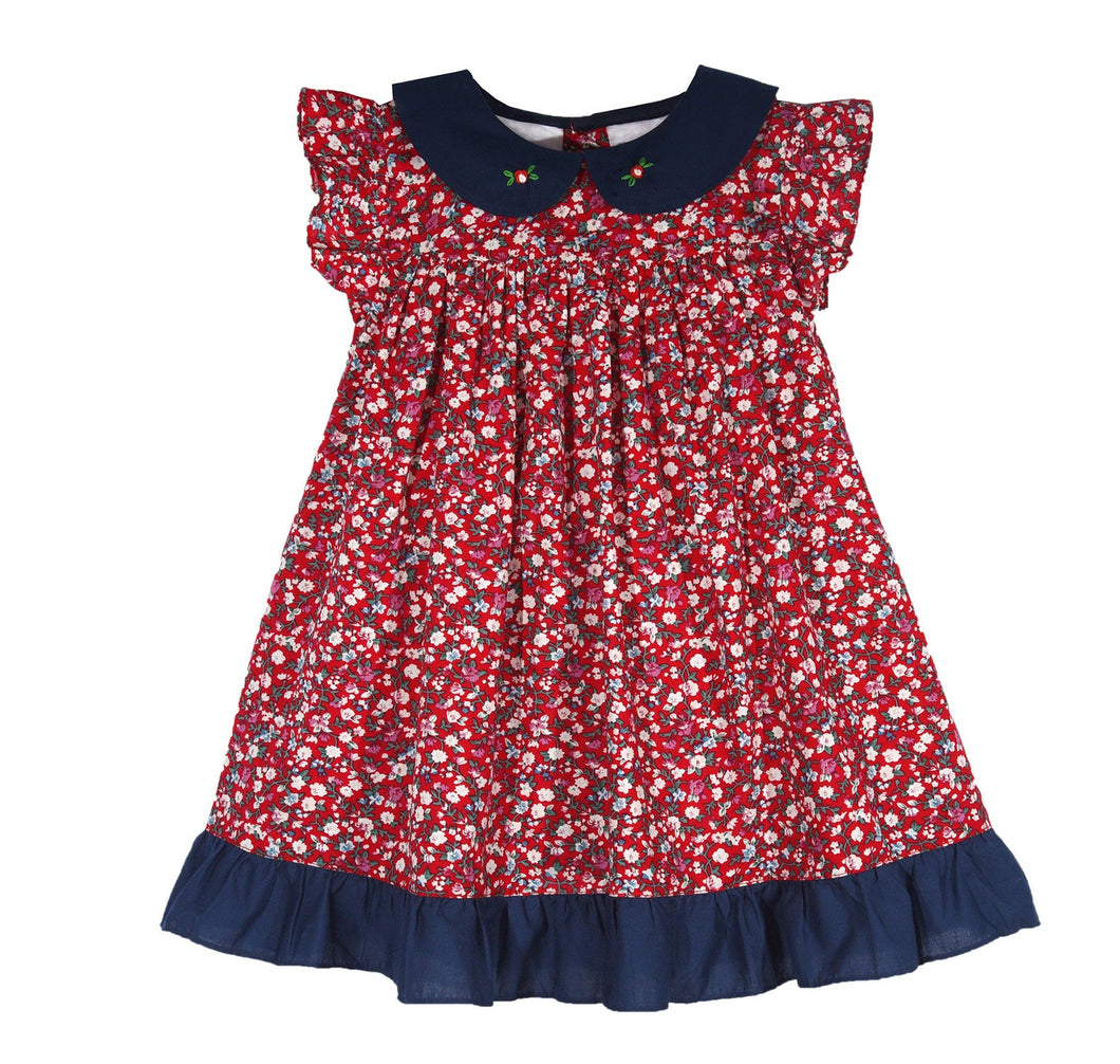 Red Liberty Ruffle Dress
