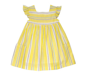 Yellow Striped Linen Sundress