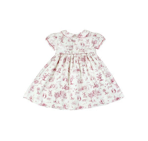 Daydress with Hand Smocking and Embroidering in Babydoll Sleeves