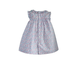 Hand Smocked Sleeveless Dress Ruffle Swing Tunic Outfit Dress - Baby Easter Riviera Dress