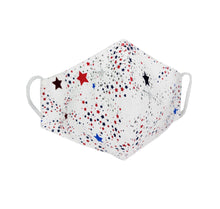 Red Blue & White Star Face Mask
