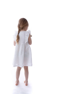 White Cotton Girl Dress