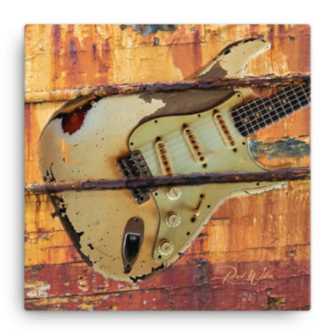 Abstract Fender Stratocaster Canvas Wall Art