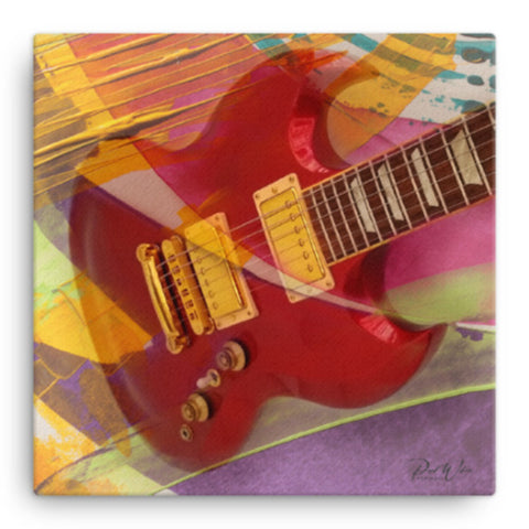 Abstract Gibson SG Guitar Canvas Wall Art