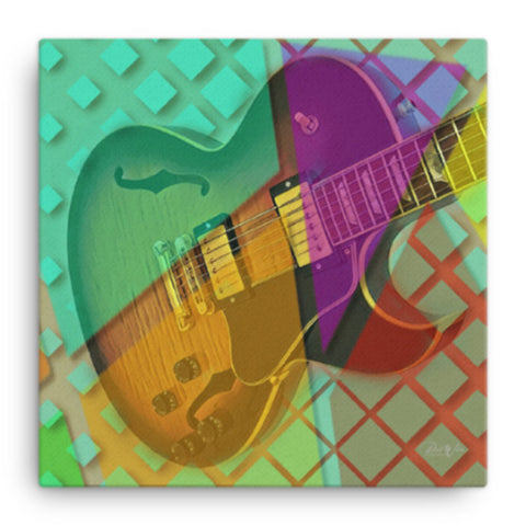 Gibson ES-137 Abstract Canvas Wall Art