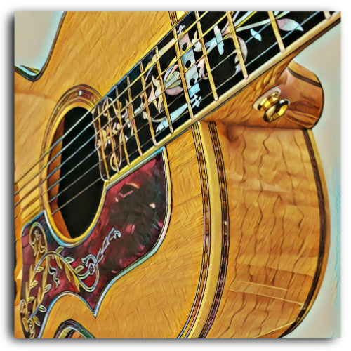 Gibson J-185 Custom Canvas Print